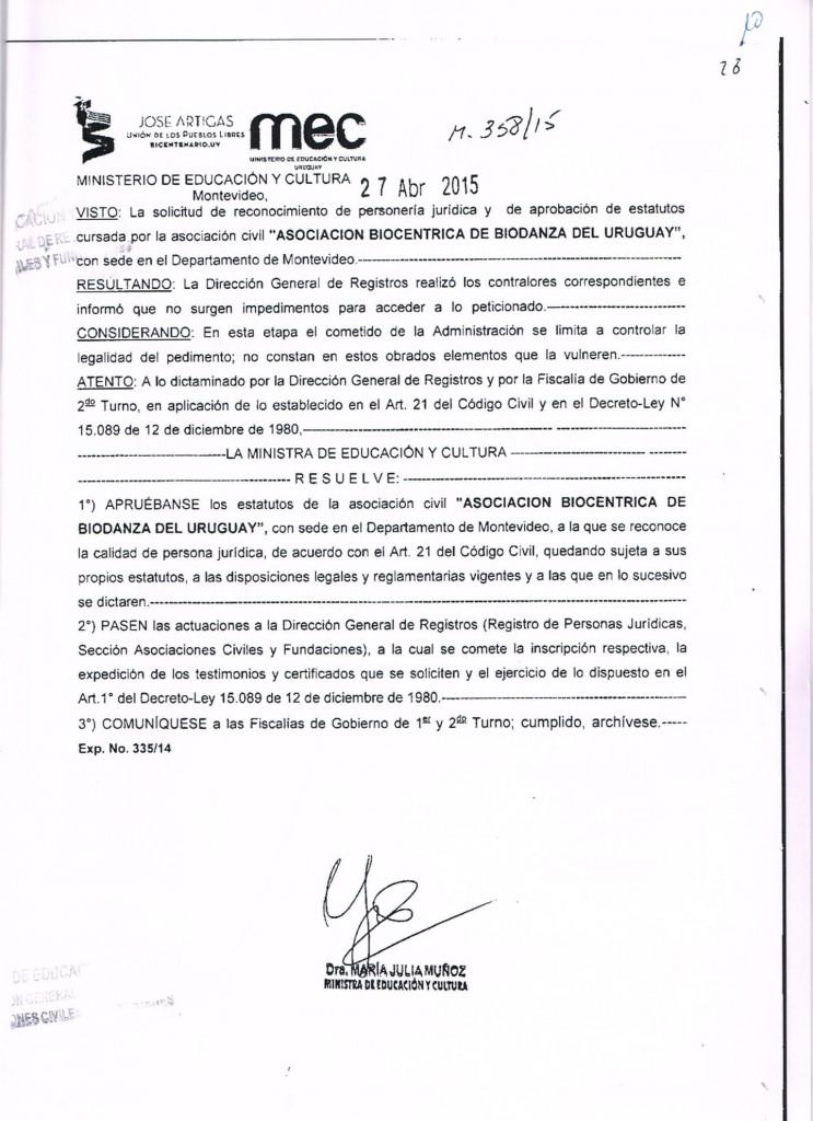 Personería Jurídica