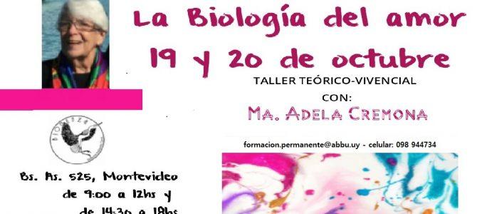 """Taller """"La biología del amor"""" (María Adela Cremona)"""